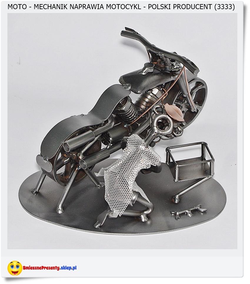 Metalowa figurka na prezent dla mechanika motorów