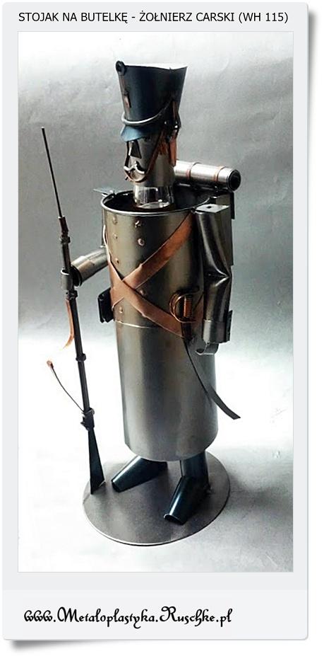 Żołnierz rozyjski stojak na wino ładny prezent  dla żołnierza