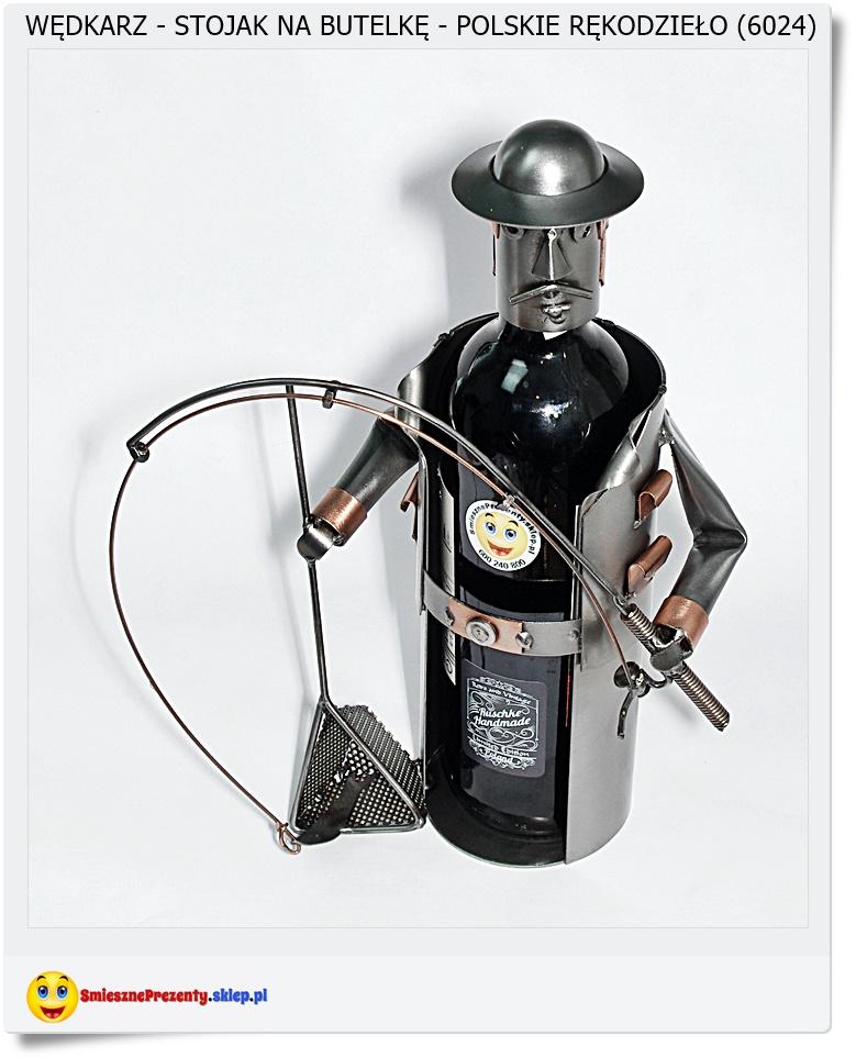 Dla wędkarza stojak na butelke wina lub alkoholu