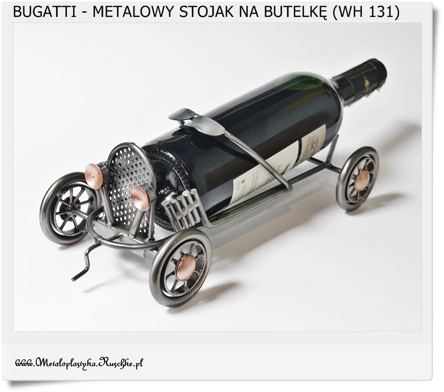 Samochód bugatti stojak na wino